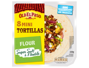 Eight Mini Tortillas Flour Super Soft