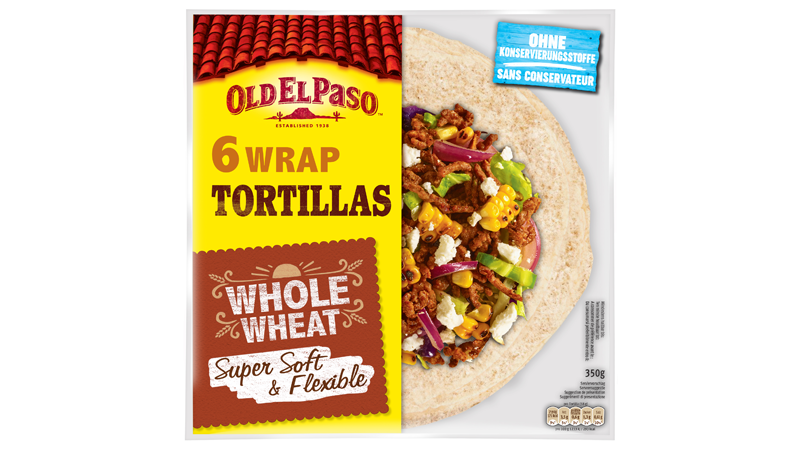 Six Wrap Tortillas Whole Wheat Super Soft