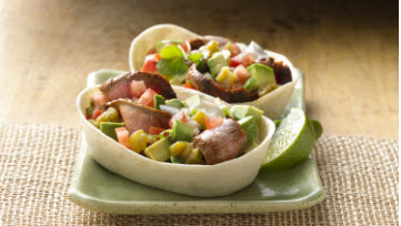 Soft Tacos piquants steak & avocat
